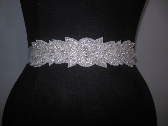 Bridal Wedding Dress Sash Crystal Embellished By Crestncrew 86 00