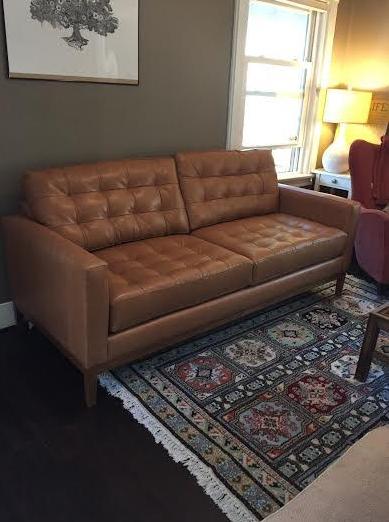 Leather Tufted Small Apartment Sofa. Design Your Own Custom Apartment Sofa  At The Sofa Company. Www.thesofaco.com