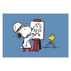 Peanuts Artist Snoopy Canvas Wall Art by Marmont Hill