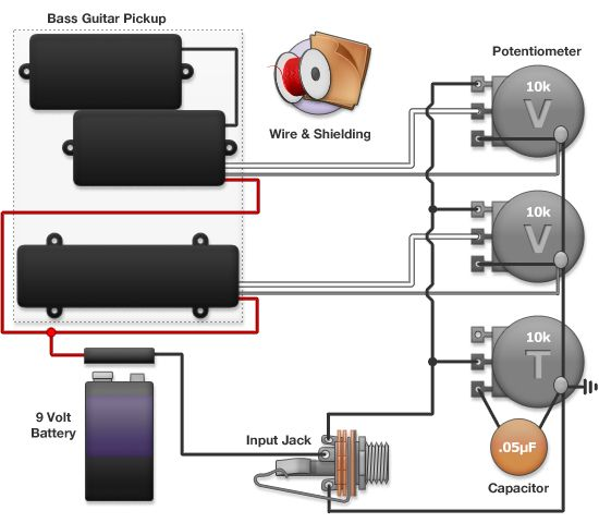 Active Bass Guitar Wiring Diagram