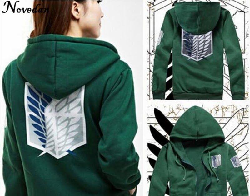 Attack on Titan Hoodie Coat Shingeki No Kyojin Cosplay Costume Jumper Jacket UK