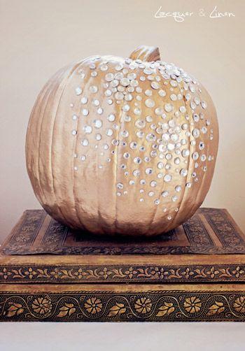 DIY Jeweled Pumpkin