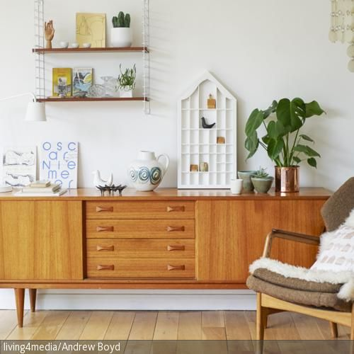 Sideboard im Stil der 60er-Jahre | Living rooms, Room and Interiors
