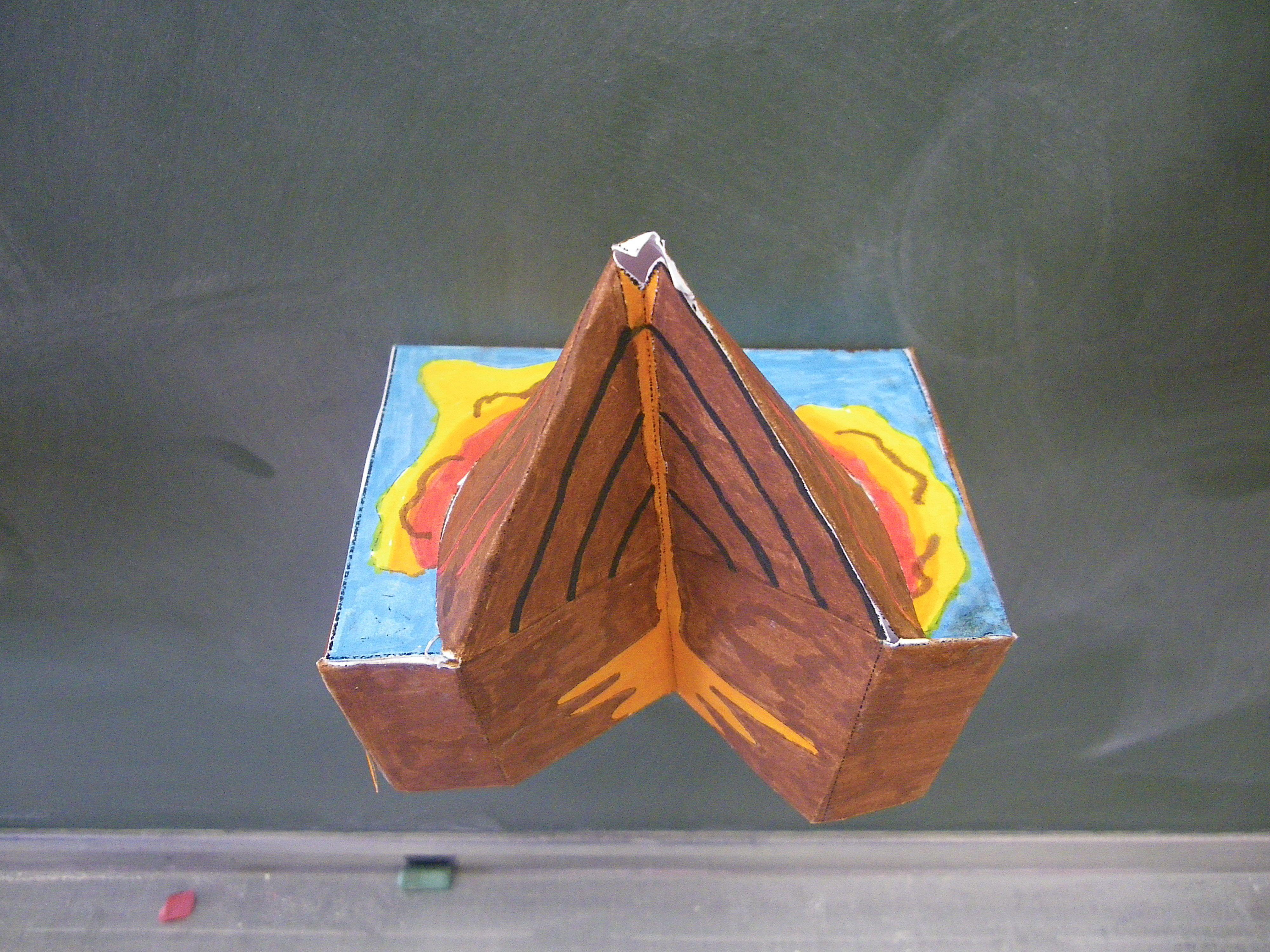 fabriquer une maquette de volcan
