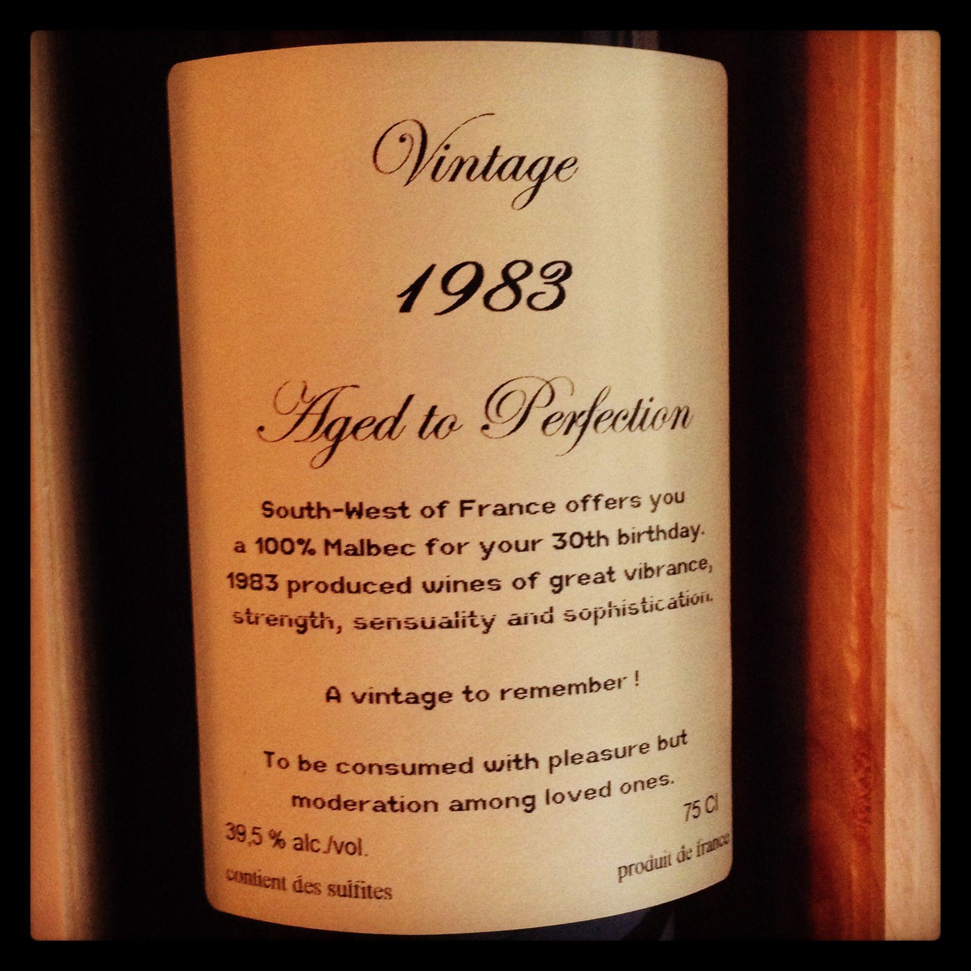 back vintage wine