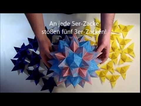Faltanleitung Fur Einen Rhombo Stern Rhombo Star Origami Folding Instruction Papiersterne Basteln Origami Weihnachtsstern Basteln