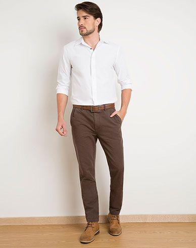Imagen Para Pantalon Para Hombre Nixcon Chocolate De Gef Menswear Outfits Pantsuit