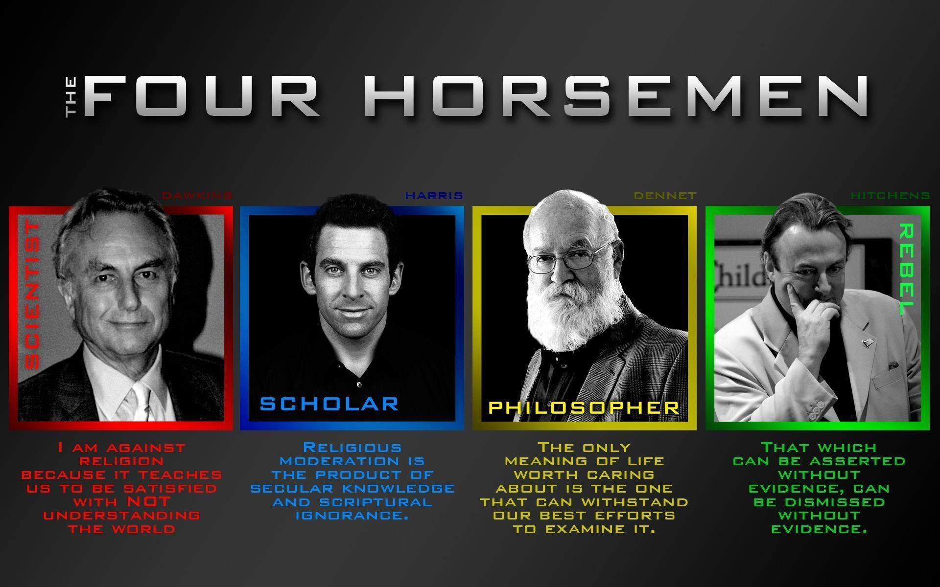 Image result for the 4 horsemen atheist