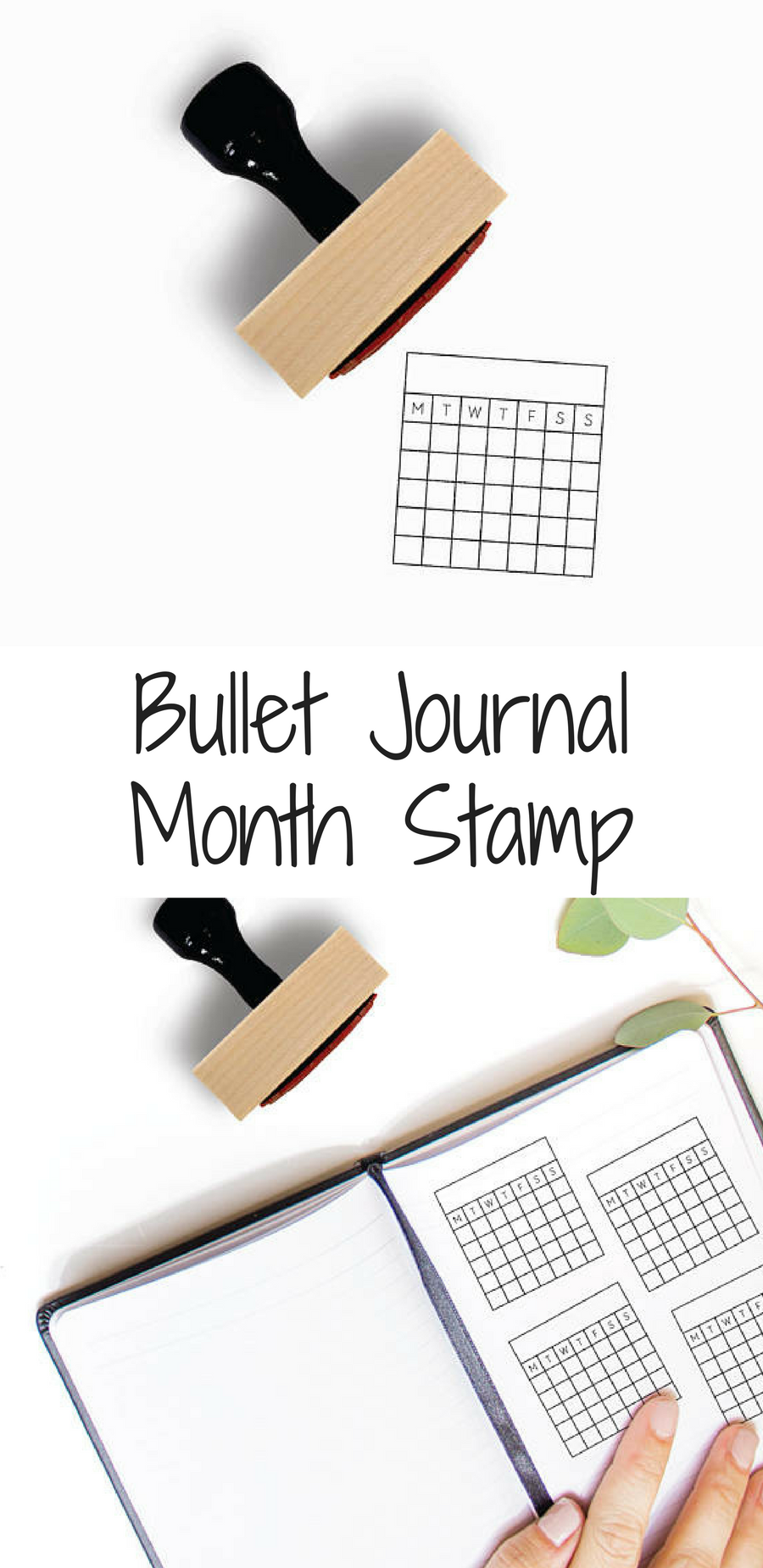 Perpetual Calendar Or Habit Tracker Stamp For Your Bullet Journal Planner Minimalistic And Just What You Were Looking So Dont Have To Draw