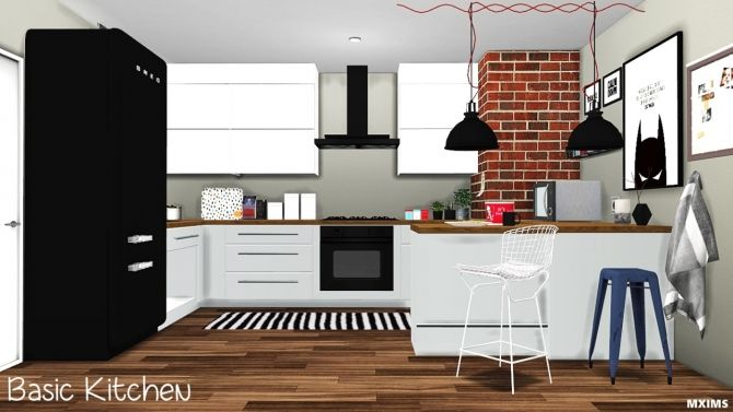 Basic kitchen update at mxims sims 4 updates sims 4 for Muebles sims 3