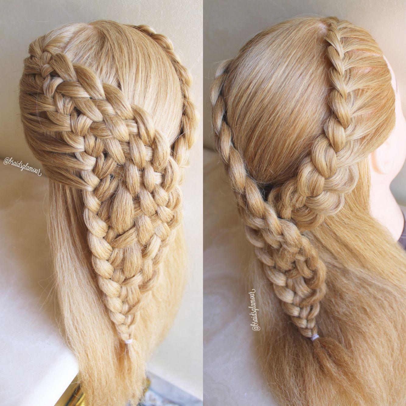 Waterfall Woven Braid And A Lace Braid Cool Braid Hairstyles Hair Braid Videos Hair Styles