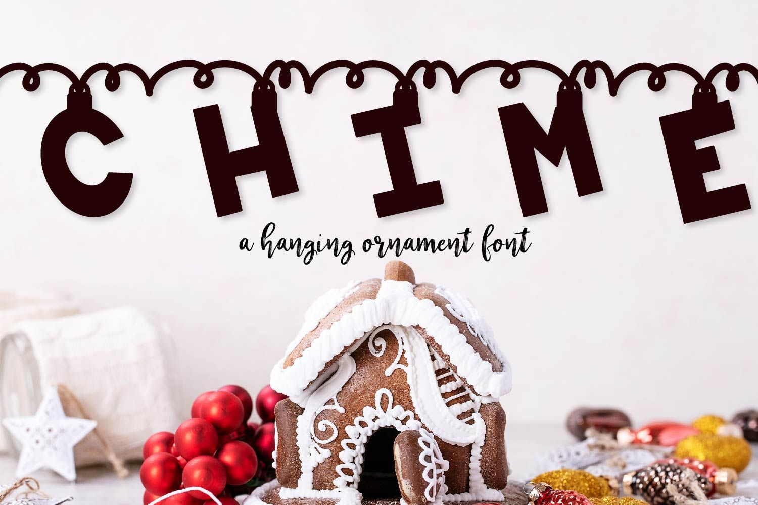 Chime a hanging christmas ornament font 298346