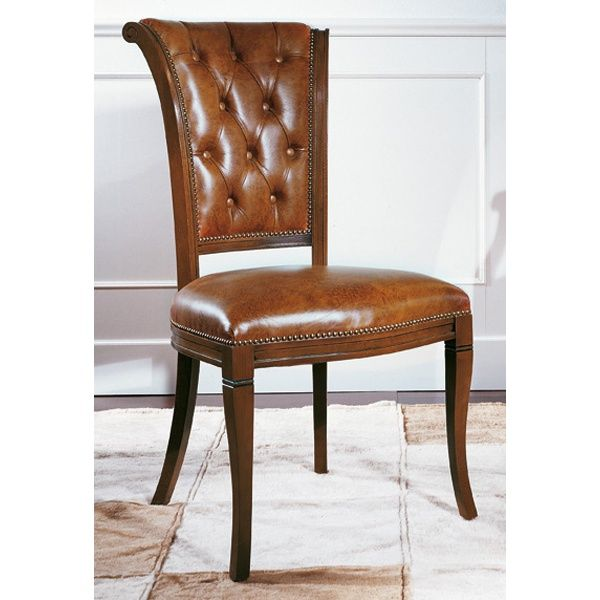 Ordinaire Biedermeier Leather Classic Chair   From Ultimate Contract UK