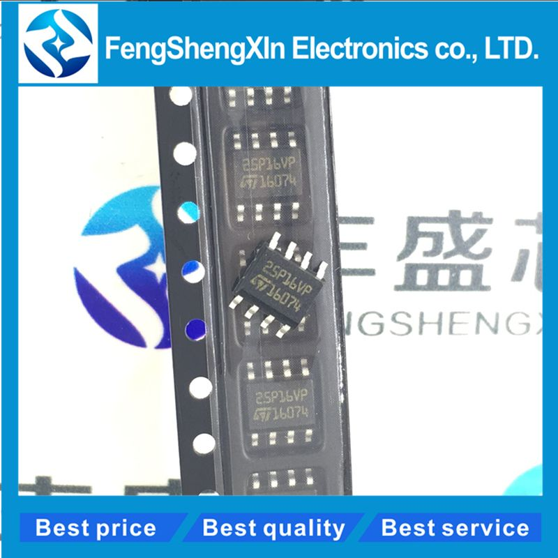 10pcs/lot New 25P16VP M25P16-VMN6TP SOP-8 16 Mbit, low voltage