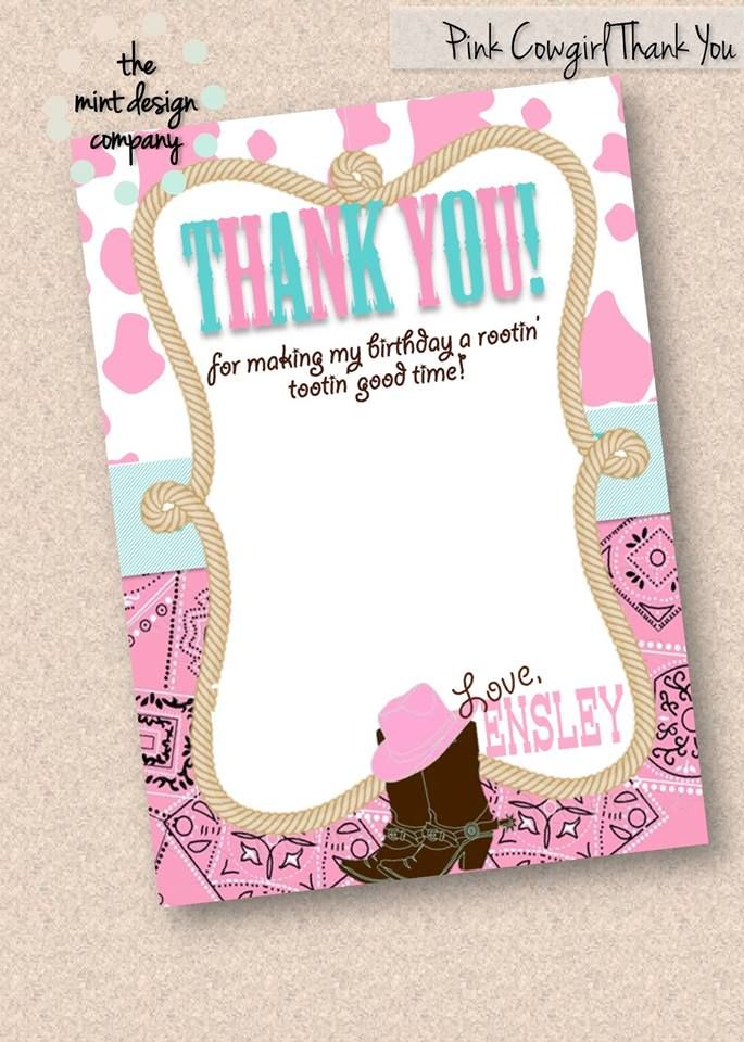In this busy day of technology a handwritten thank you note goes a very long way! Add a personalized made-to-match thank you card to any of your invitation purchases! Did you know I can even add your child's handwritten signature? Sure can! www.themintdesigncompany.com