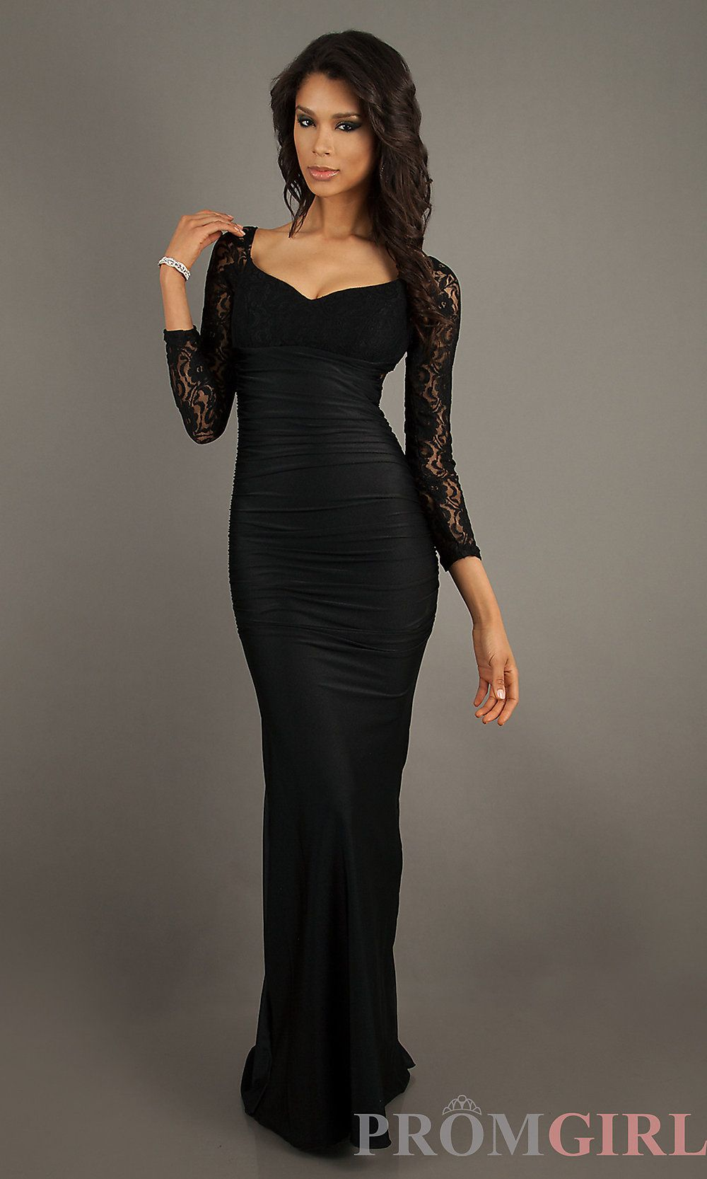 Long Sleeve Prom Dresses, Atria Lace Formal Prom Gowns- #prom ...