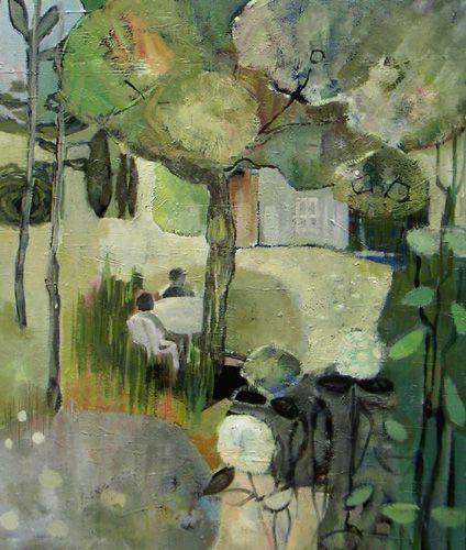 Benedicte Garnier Fihey Peinture A L Huile Paysage L Ete Au