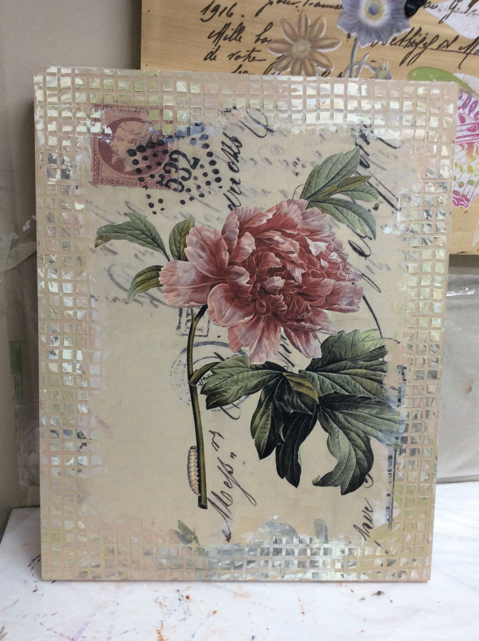 Decoupage for wall hanging  Decoupage Work  Pinterest