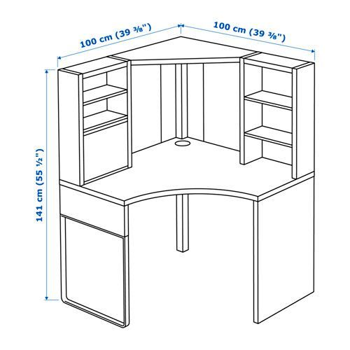 Image Result For Micke Corner Desk Dimensions Corner Workstation Ikea Micke Workstation