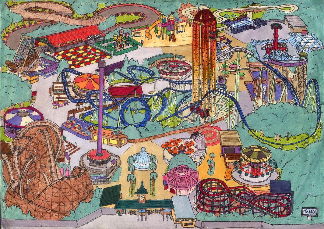amusement park art | Amusement Park Map by Neotomi ...