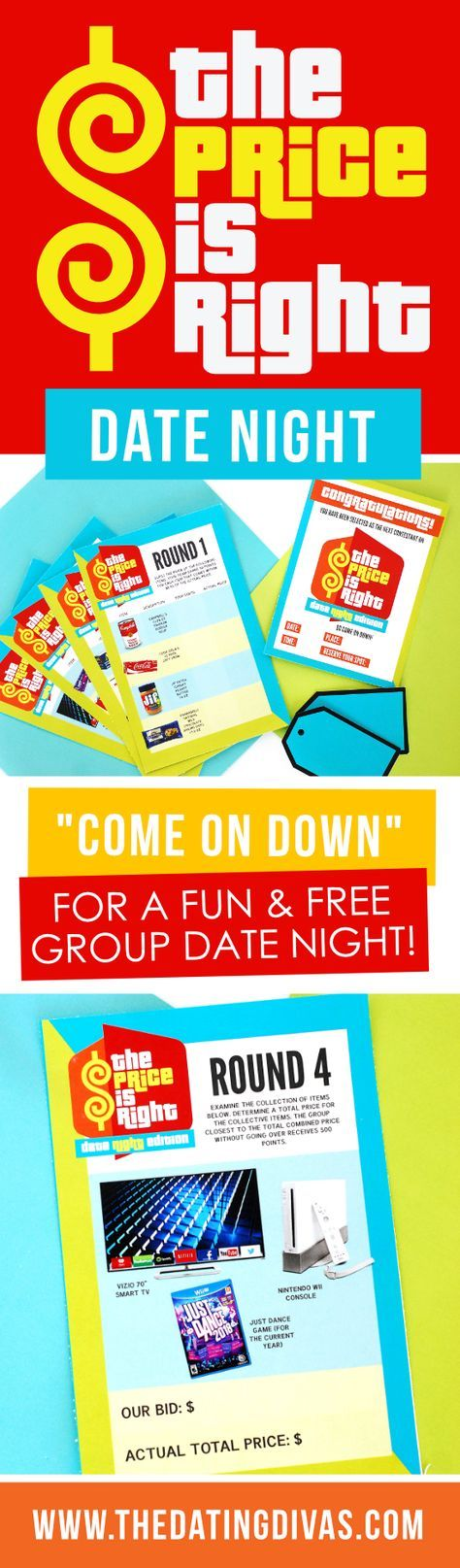 """Price is Right"" Group Date Night From Couples game"