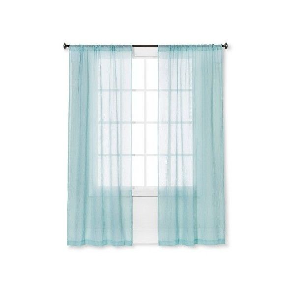 Crinkle Sheer Curtain Light Teal