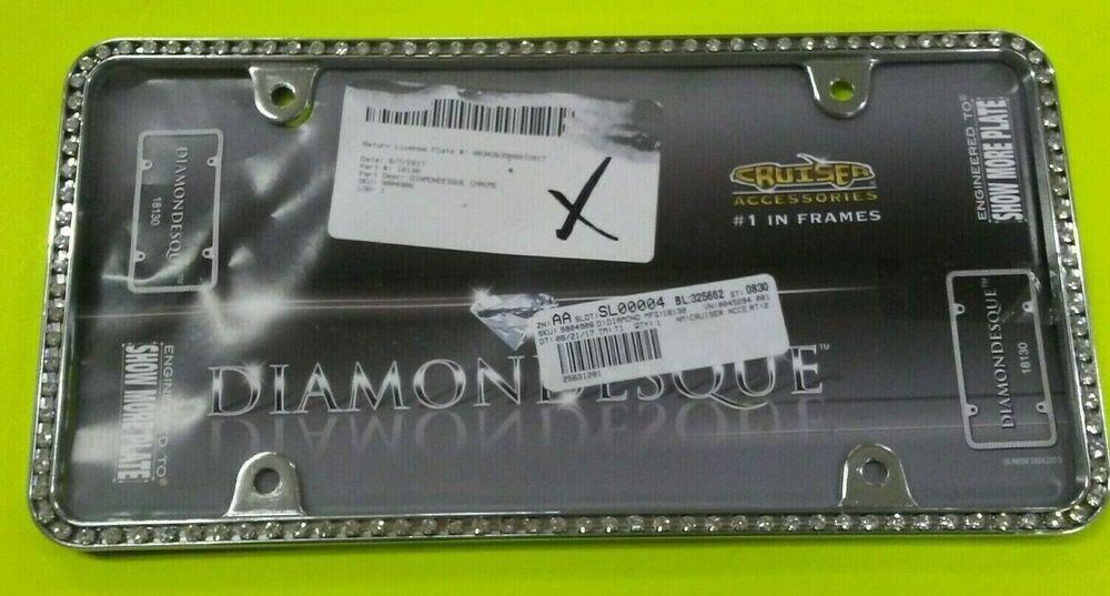Cruiser Accessories 18130 Diamondesque License Plate Frame Chrome Clear Cruiseraccessories License Plate Frames Frame License Plate