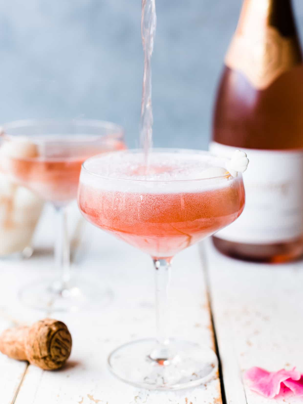 Lychee Rose Mimosas: Mimosa Champagne Cocktail | Kitchen Confidante