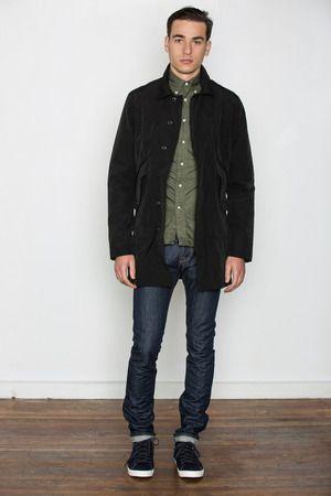 Wings + Horns - Black Grunge Cloth Mac Coat