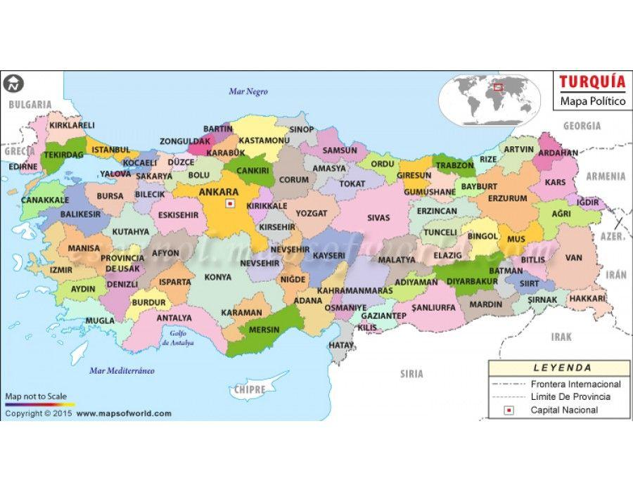 Turkey Map In Spanish store mapsofworld Pinterest Spanish