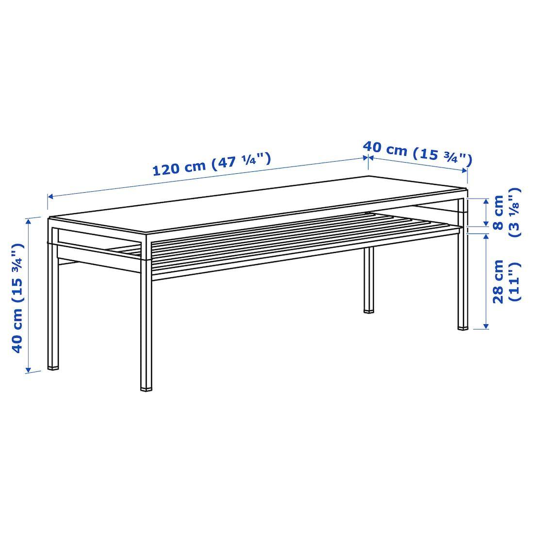 Nyboda Soffbord Med Vandbar Bordsskiva Morkgra Betongmonstrad Svart 120x40x40 Cm Ikea Table Top Table Top Lighting Ikea [ 1100 x 1100 Pixel ]