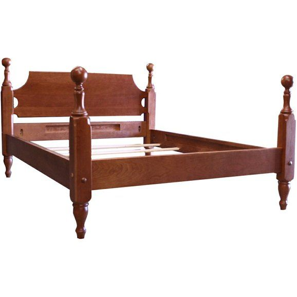 The four-poster, cannonball bed is Early American. Here is a ...