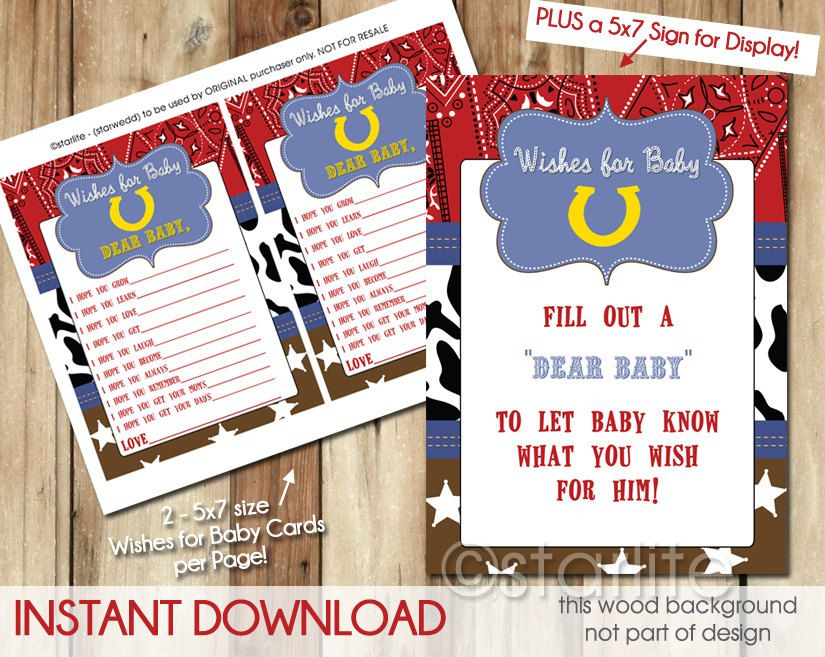 Cowboy Baby Shower Game Ideas Cowboy Western theme Baby Shower