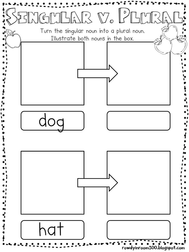 plural nouns kindergarten ela pinterest plural nouns kindergarten and literacy. Black Bedroom Furniture Sets. Home Design Ideas