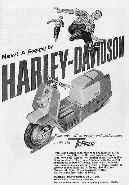 Harley-Davidson Topper scooter 1957 from vespa sidecar: 06/30/07