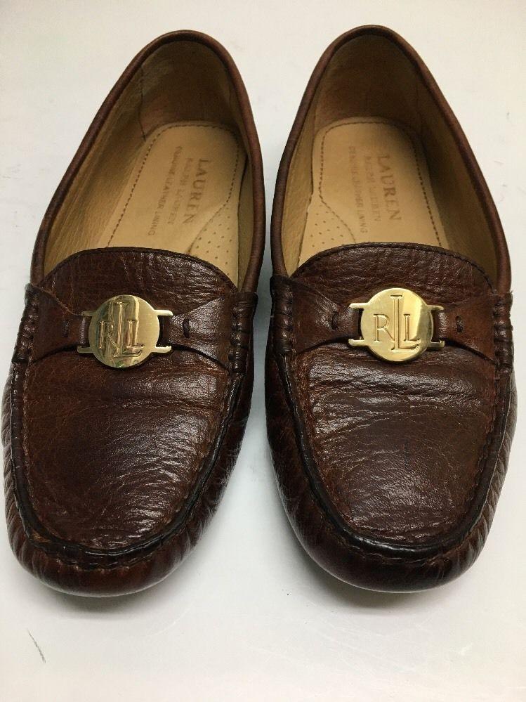 4873b573282 Lauren Ralph Lauren carley womens driver shoes brandy loafer moc leather  Size 6B  ralphlauren  SLipon