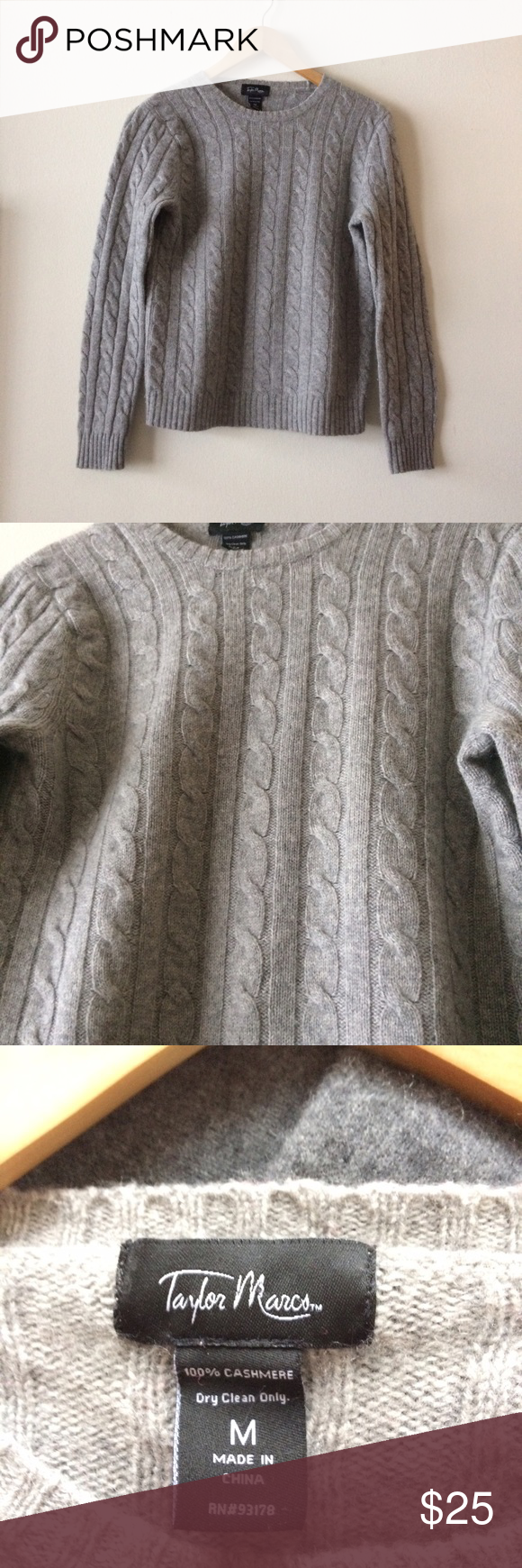 Cashmere Sweater Super soft, cable knit,  Cashmere sweater in great condition. Sweaters