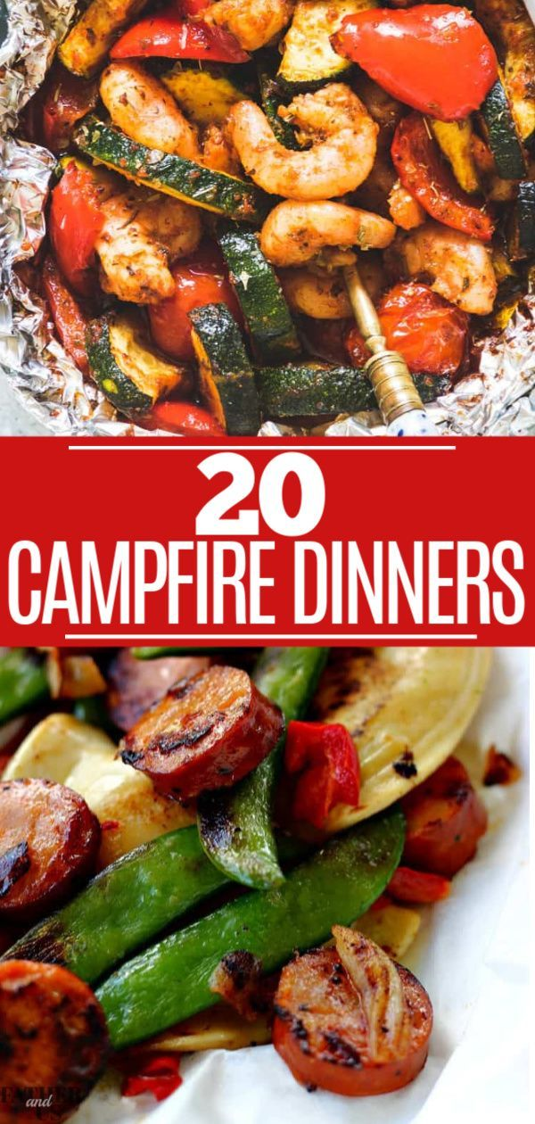 20 CAMPFIRE DINNERS