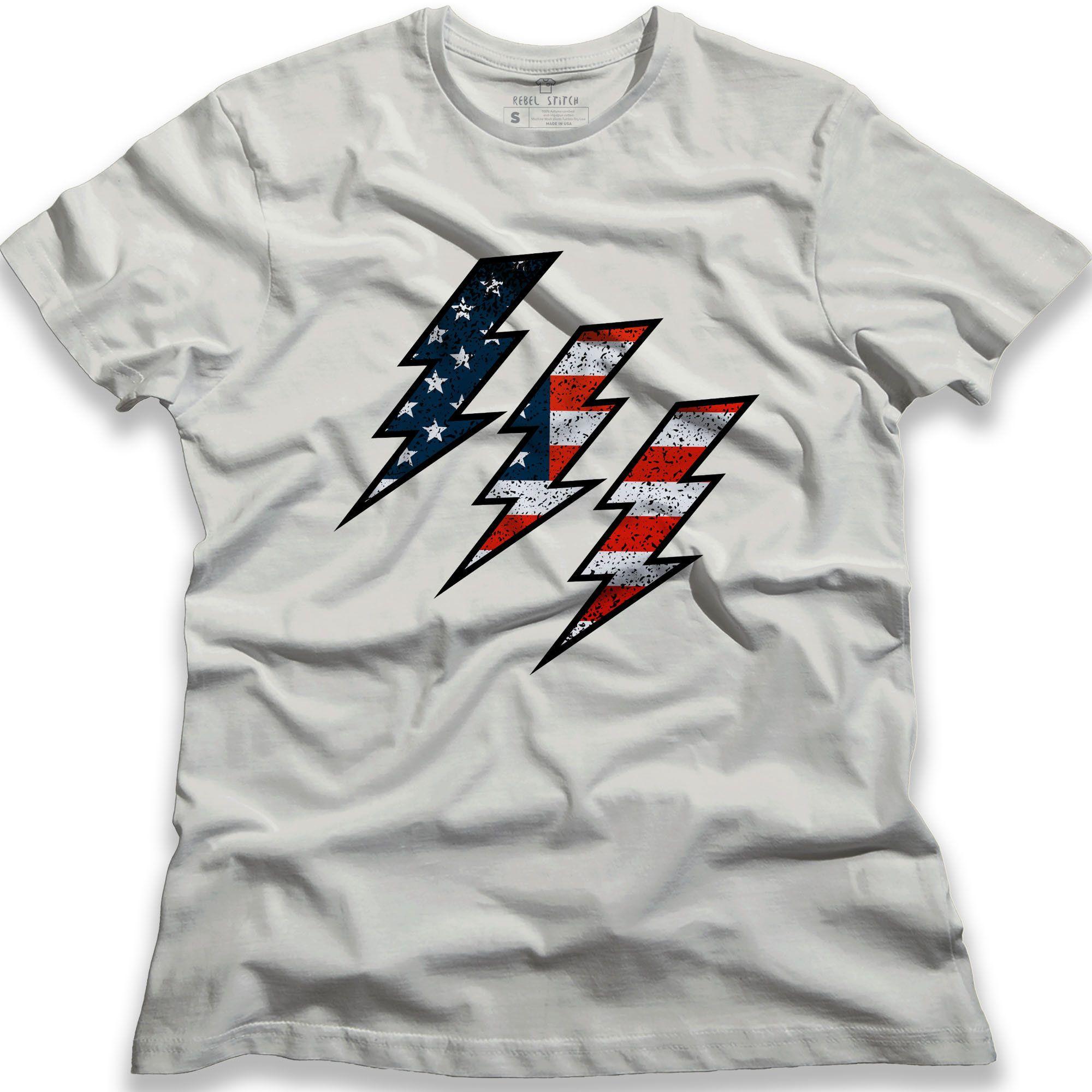 Flag Bolt T Shirt American Flag Tees Usa Pride Usa Flag Graphic Apparel Graphic Tees Women T Shirts In 2020 American Flag Tee Flag Tee Graphic Apparel