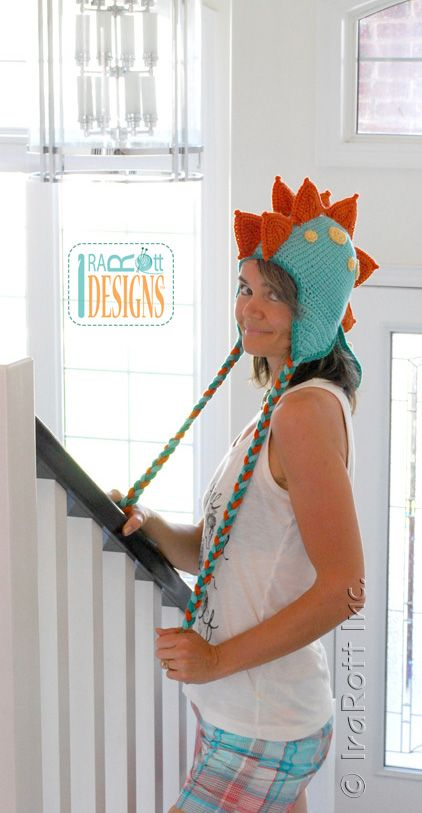Spiky the Stegosaurus Dino Hat PDF Crochet Pattern | tığ | Pinterest ...