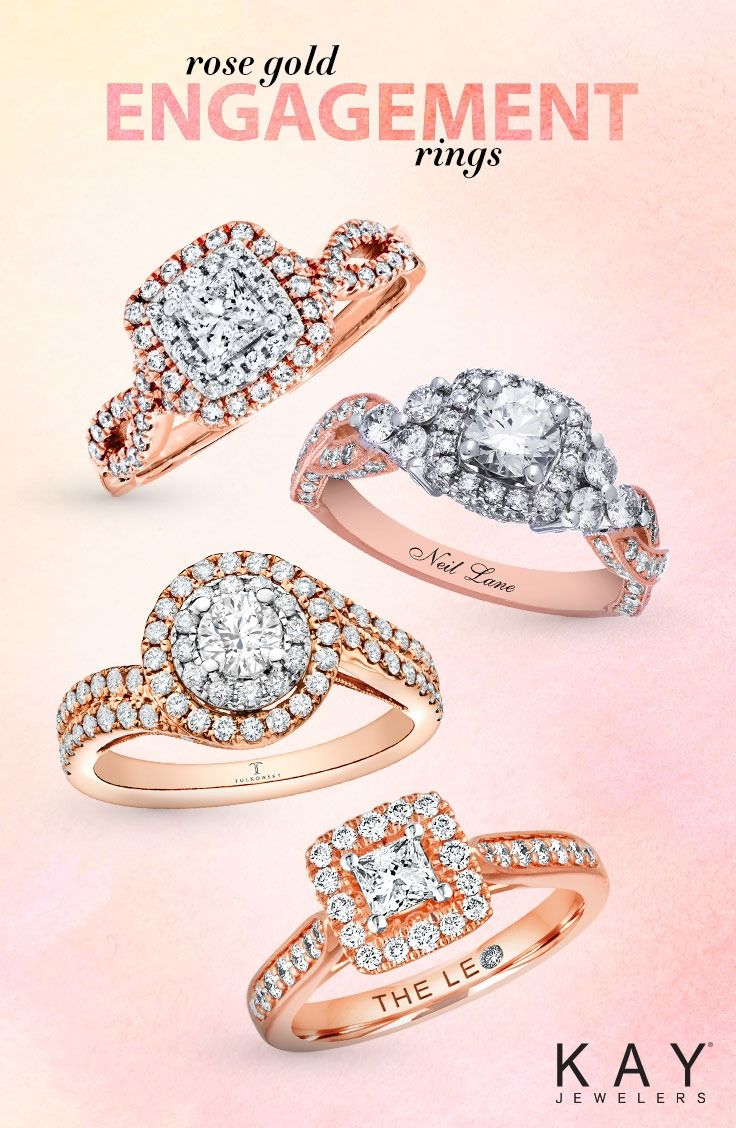 Pledge Forever With A Romantic Rose Gold Engagement Ring