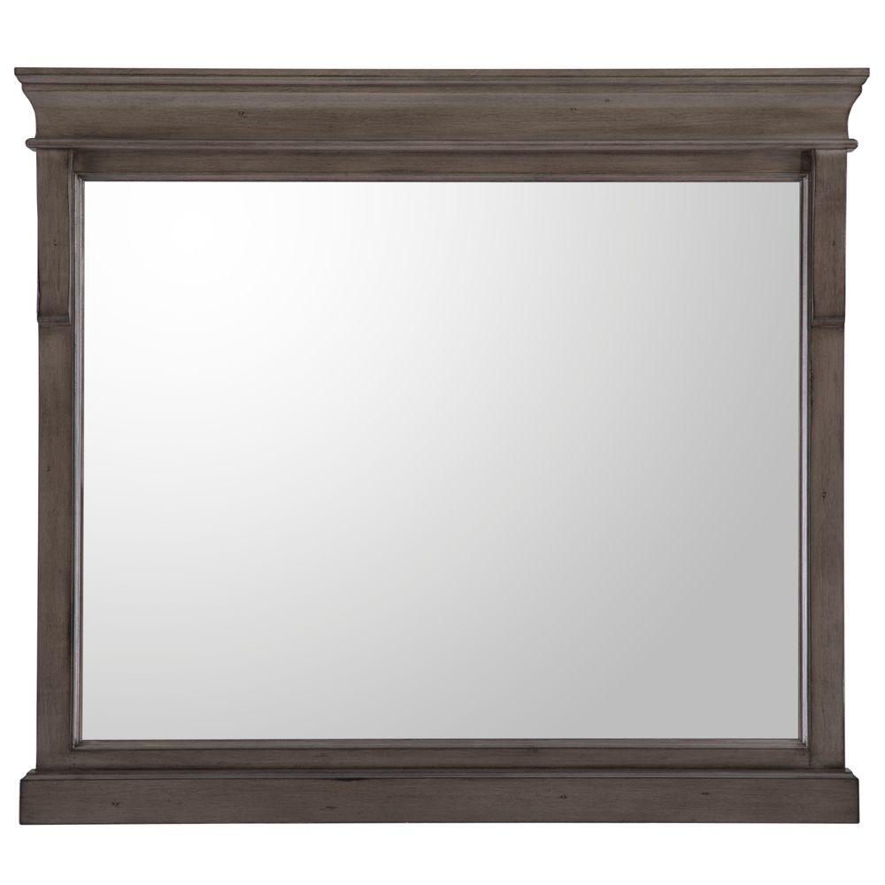 Home Decorators Collection 36 In W X 32 In H Framed Rectangular Bathroom Vanity Mirror In Distressed Grey Nadgm3632 The Home Depot In 2021 Home Decorators Collection Framed Mirror Wall Mirror [ 1000 x 1000 Pixel ]