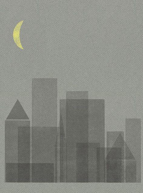 night city_grey/yellow moon   by sergeyt photo