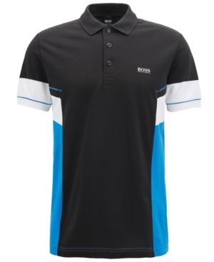 aea6cd0e0c7fd HUGO BOSS BOSS MEN S REGULAR CLASSIC-FIT COTTON COLORBLOCKED POLO SHIRT.   hugoboss  cloth