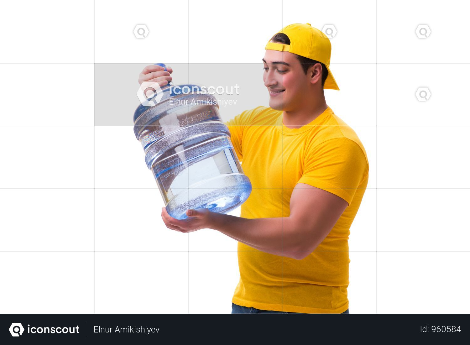 Premium Man Delivering Water Bottle Isolated On White Photo Download In Png Jpg Format Delivery Photos Water Bottle Bottle