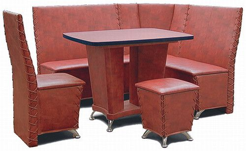 019c Custom Corner Booth With Table Chair And
