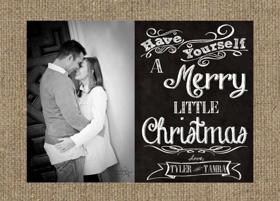 Chalkboard 5x7 Photo Christmas Card  Front Only by SSDdesign, $15.00