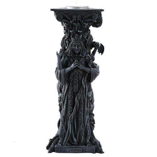Mother, Maiden, Crone (Hecate) Dark Candle Holder | The Luciferian Apotheca - Your Satanic, Left Hand Path & Occult Shop