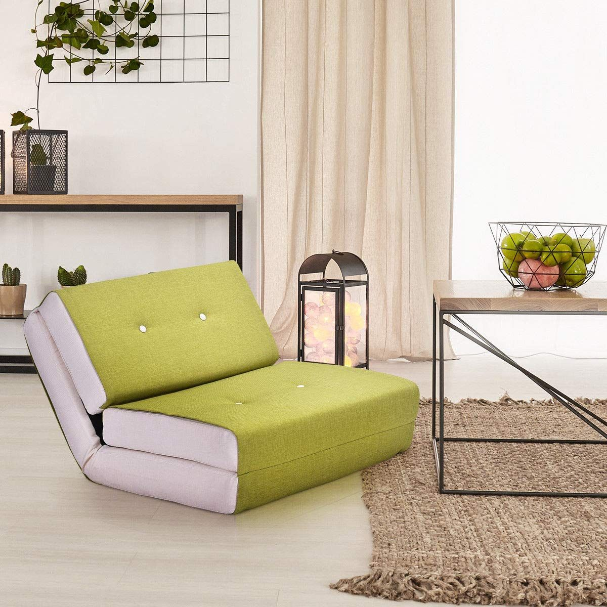 Giantex Fold Down Chair Convertible Sleeper Bed Couch