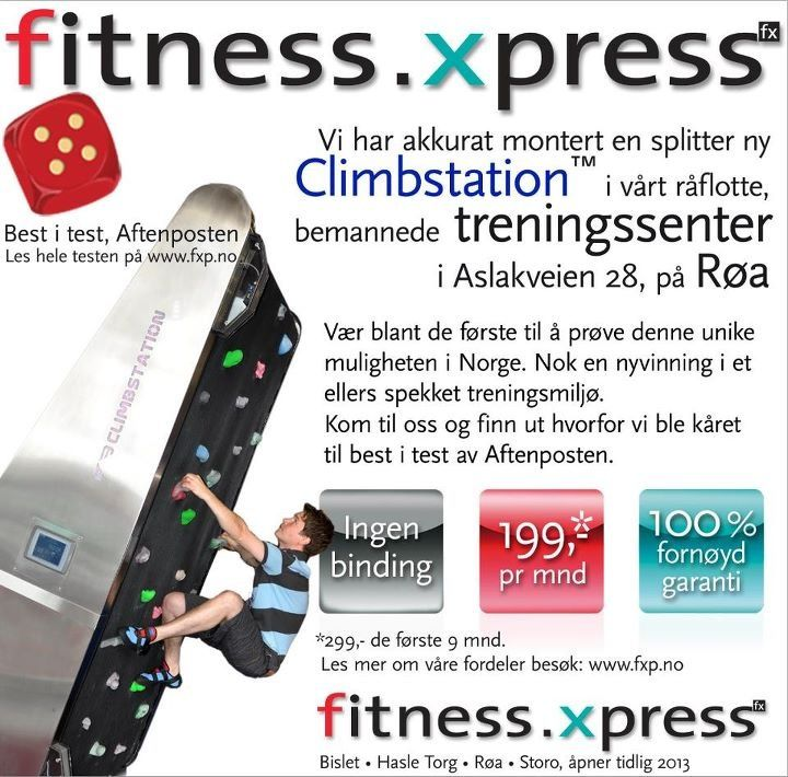 Klatreveggen på Fitness Express i Oslo. Instalert våren 2012. Norway's newest rotation and tilting climbing wall installed spring 2012.